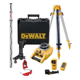 Dewalt DW075PK Yatay ve Dikey Otomatik Hizalamalı Rotatif Lazer Distomat Seti, 15m - 100m